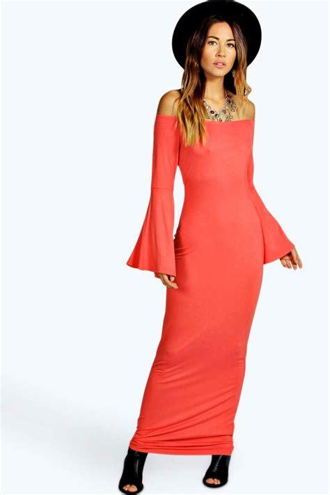 Semmy Maxy Dress Hq 1 boohoo womens sammy the shoulder maxi dress ebay
