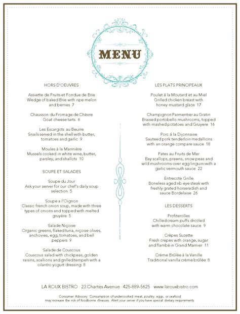 dining menu templates restaurant menu musthavemenus carnegie library