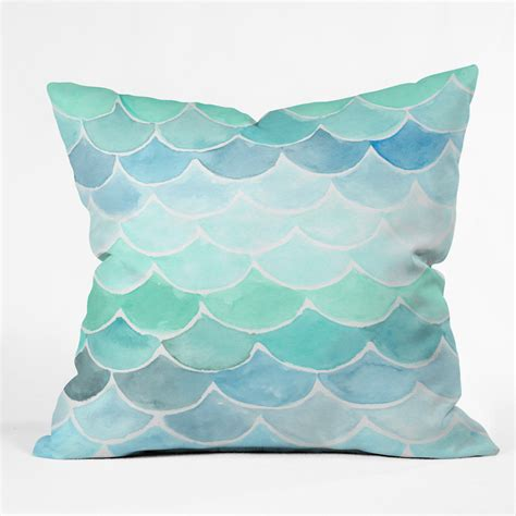 Throw Pillows Mermaid Scales Throw Pillow Forest