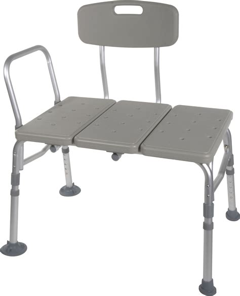 transfer benches plastic transfer bench with adjustable backrest drive medical