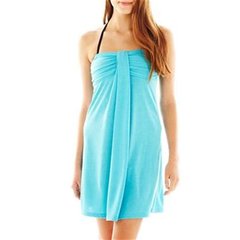 Jcpenney Tattoo Cover Up | arizona bandeau swim cover up dress jcpenney summer