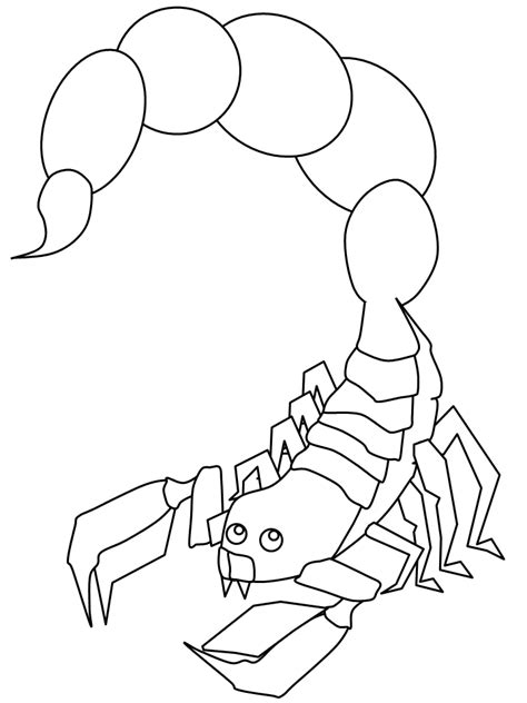 scorpion free colouring pages