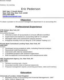 free accounting student resume sle for doc pdf