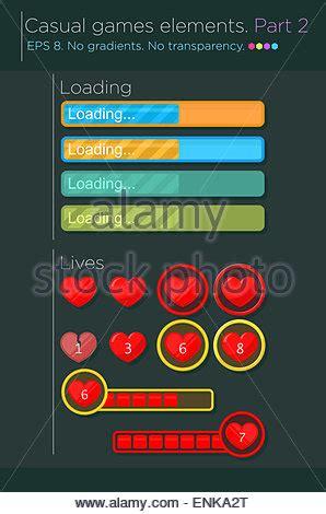 design elements in games progress bar set loading status bar web indicator