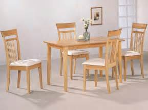Light Dining Room Sets Warm Light Maple Wood Finish Modern 5pc Casual Dining Set