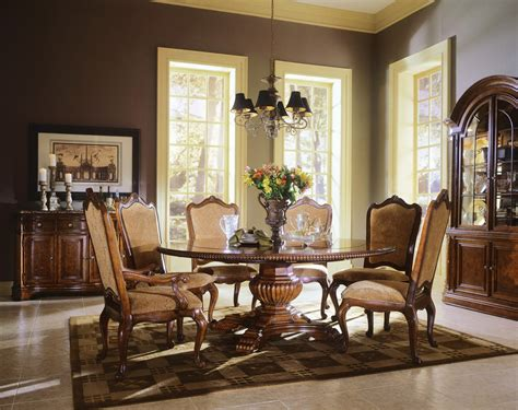 large  dining table  leaf traditional wood