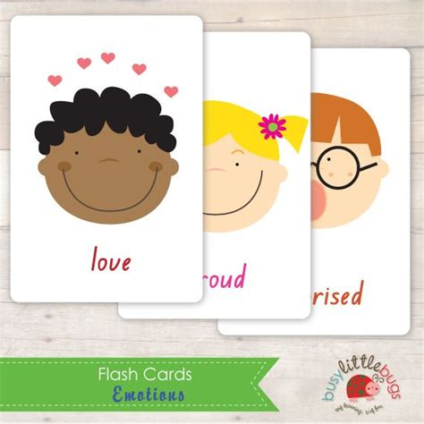 printable flash cards baby busy little bugs emotions flash cards printables