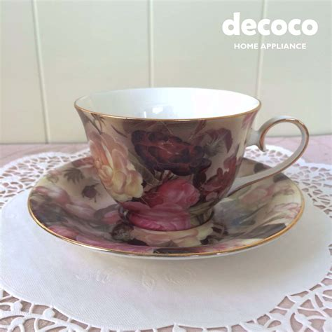 Cup Saucer Tea Set Cangkir Lepek Dengan Tutup Y85 Vicenza capodimonte 12 cup saucer brown c118 decoco