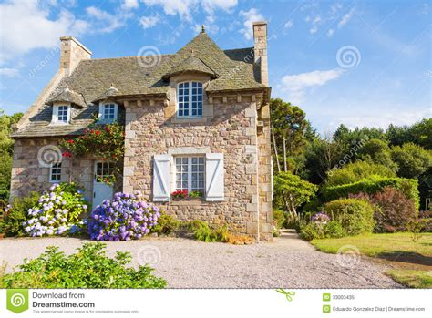 Typical French Home | french brittany typical house royalty free stock photo