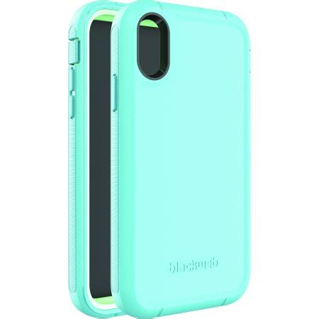 blackweb rugged phone with rotating holster for iphone xr teal walmart