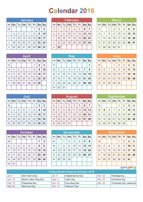 Calendario W Printable Calendar 2016 2017 2018 2019 2020 Pdf Word Image