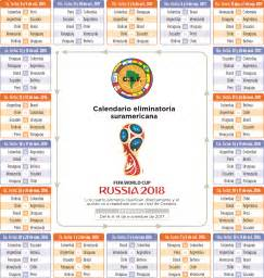 Calendario Eliminatorias 2018 Calendario Eliminatoria Sudamericana Rusia 2018 El Heraldo