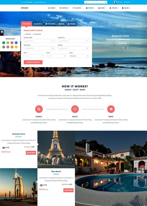 bootstrap templates for hotel management 10 best hotel website templates for hotel and travel