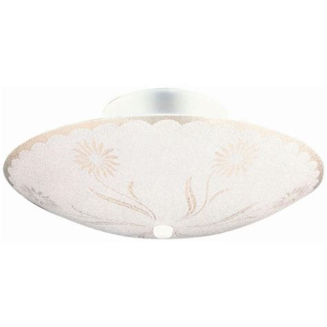 house of floral designs design house 2 light white round floral design ceiling light 501619 the home depot