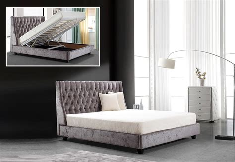 tufted bed with storage dane transitional tufted fabric bed with lift storage
