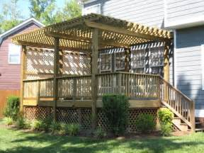 Deck Pergola Pictures by Gallery For Gt Pergola On Deck