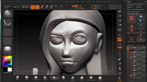 zbrush cartoon girl youtube