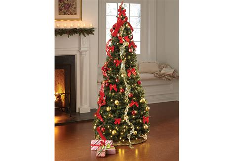 pop up 6 ft led christmas tree sharper image collapsible