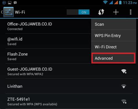 cara membuat jaringan wifi di android jelly bean cara mengetahui mac address di android dan komputer