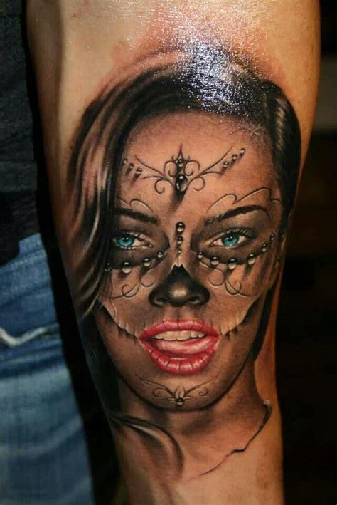 la catrina tattoo by tibor szalai la catrina lacatrina muerta