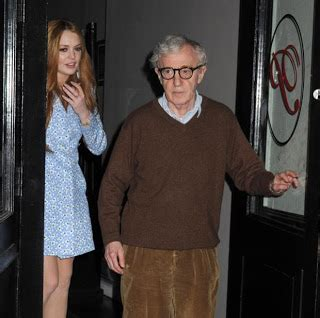 chatter busy lindsay lohan has dinner with woody allen