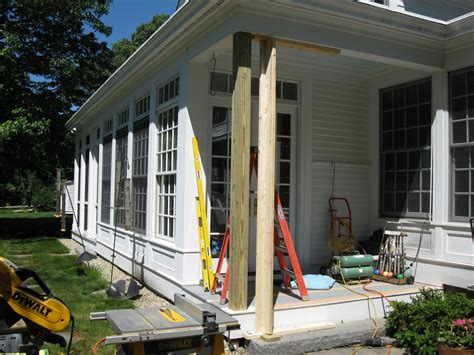 wooden porch posts and columns the rickety brick house wooden porch posts replacing a wood post concord carpenter