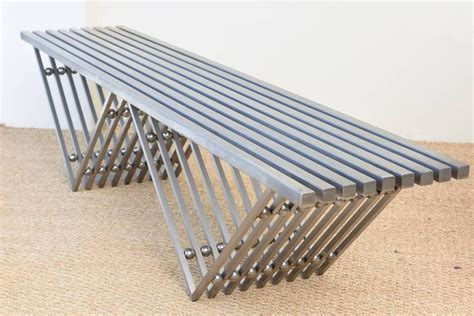 vestibule bench architectural stainless steel sculptural bench entitled