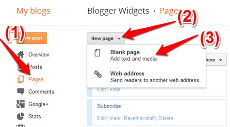 build blog how to move the blogger contact form to a separate page