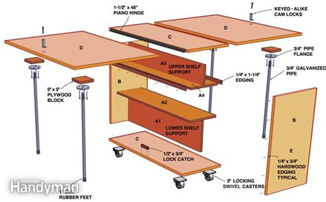 folding bench plans folding workbench the family handyman
