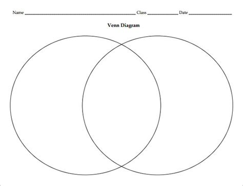 8 blank venn diagram templates free sle exle