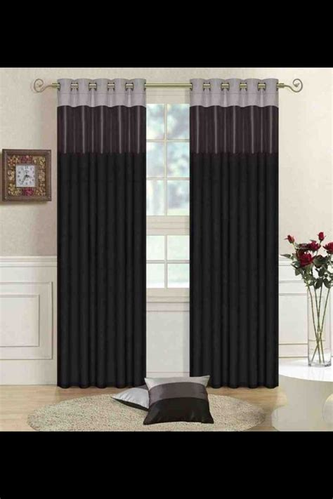 black and curtains for living room living room curtains idea black grey silver for the home