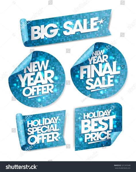 new year price new year offer new year stock vector 521341648