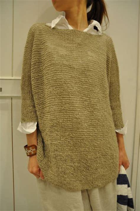 knitting pattern linen sweater daniela gregis loose knit sweater over rumpled linen