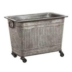 Large galvanized metal tub on wheels by evergreen enterprises inc