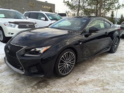 new black 2015 lexus rc f 2dr cpe review youtube