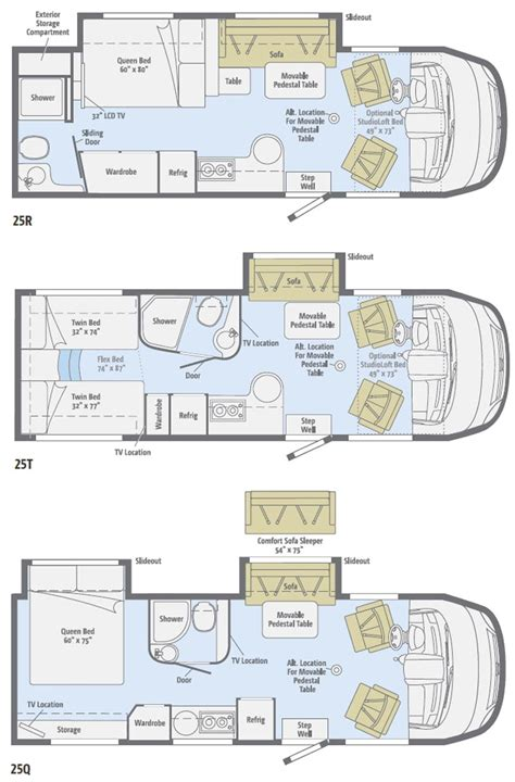 Class C Motorhome Floor Plans by Winnebago Class C Motorhomes Floor Plans Adventurer