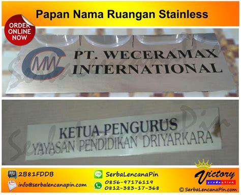 Acrylic Papan Nama papan nama ruangan kuningan 0812 38317368