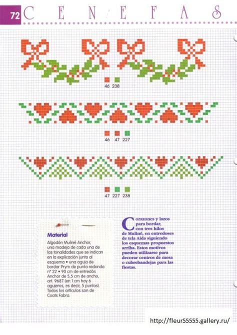 cenefas navidad punto de cruz mejores 133 im 225 genes de cenefas de punto de cruz en