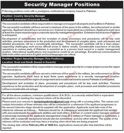 security manager resume sles country security manager opportunity 2017