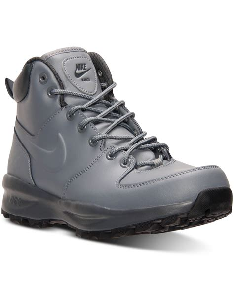 nike boot for nike s manoa leather boots from finish line in gray