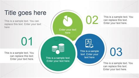 Schematic Report Template Powerpoint 3 Steps Circular Diagram Layout For Powerpoint Slidemodel