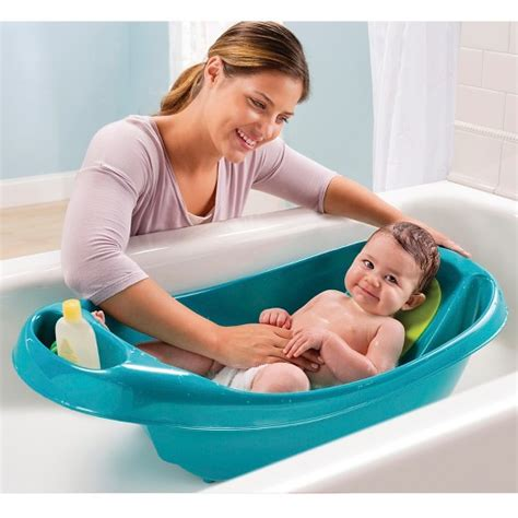 summer infant bathtub with shower summer infant 174 1 2 3 taking a bath teal target