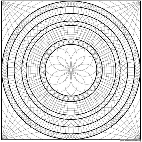 complicated geometric coloring pages geometric mandala coloring pages az coloring pages