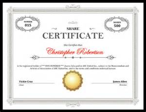 downloadable resume formats printable stock certificate free download