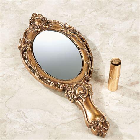 Retro Kitchen Furniture darling diora gold vanity hand mirror