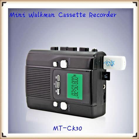 registratore a cassetta mini portatile walkman a cassette registratore con usb sd