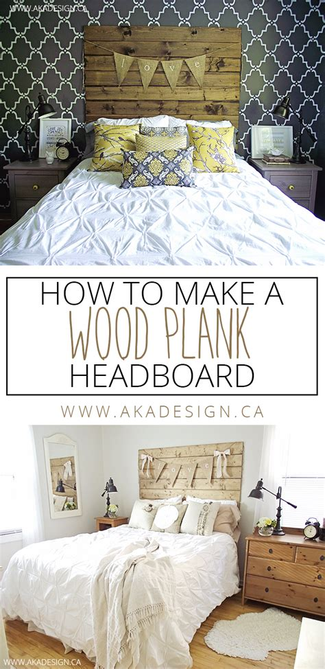 how to make a wood plank headboard