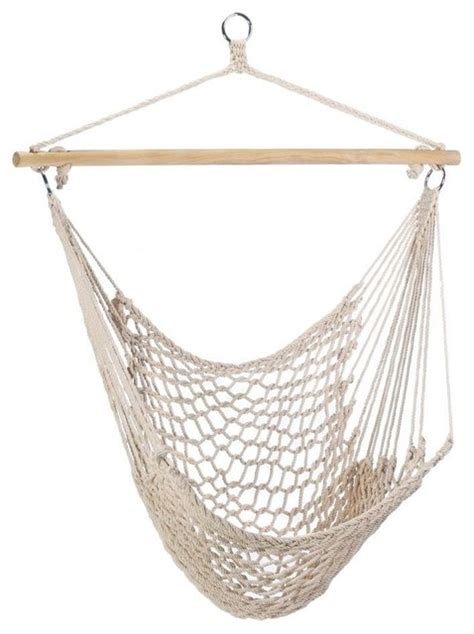 rope hammock swing chair outdoor rope hammock chair natural white contemporary
