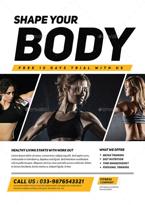 fitness flyer fitness flyer by guuver graphicriver