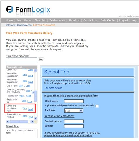 school trip form template school trip attendance and consent form formlogix